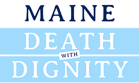 Maine Death with Dignity - Inverse Logo