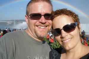 Rebecca Van Wormer with Husband Ken - Niagara Falls