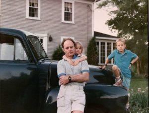 Ron Deprez with his daughter, Esmé, and son, Réal, in Maine in the late 1980s. SOURCE: ESMÉ E. DEPREZ